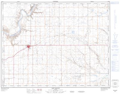 072E14 - BOW ISLAND - Topographic Map