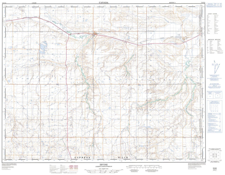 072E16 - IRVINE - Topographic Map