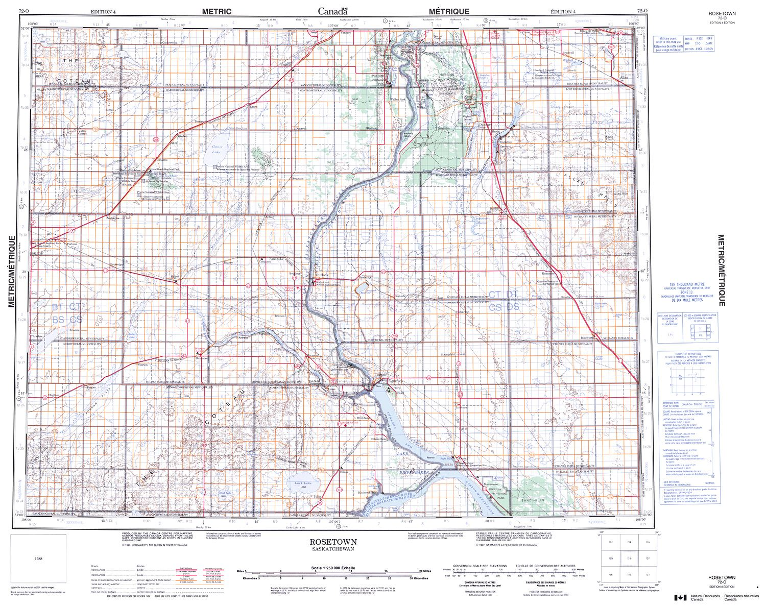 072O - ROSETOWN - Topographic Map