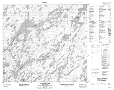 074H06 - RUSSELL LAKE - Topographic Map