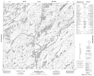 074H09 - MCDOWELL LAKE - Topographic Map