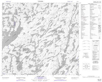 074H15 - CLOSE LAKE - Topographic Map