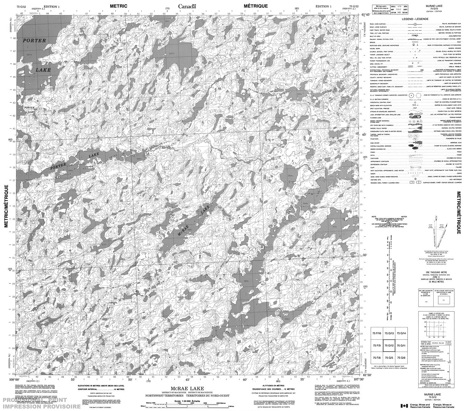 075g12 Mcrae Lake Topographic Map