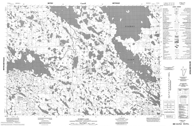 Surrey Canada Map.077d12 Surrey Lake Topographic Map