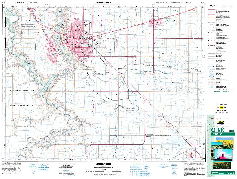 LETHBRIDGE Topographic Map