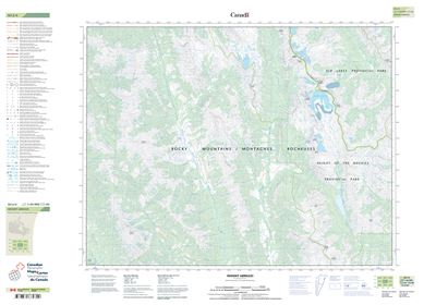082J06 - MOUNT ABRUZZI - Topographic Map