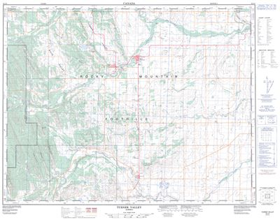 082J09 - TURNER VALLEY - Topographic Map