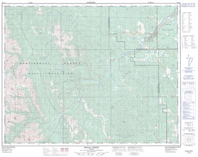 082J15 - BRAGG CREEK - Topographic Map