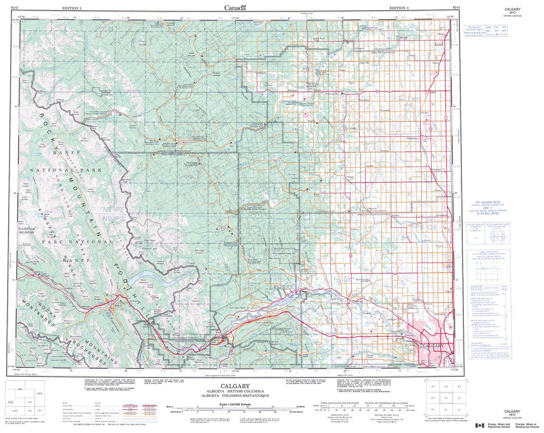 082o Calgary Topographic Map