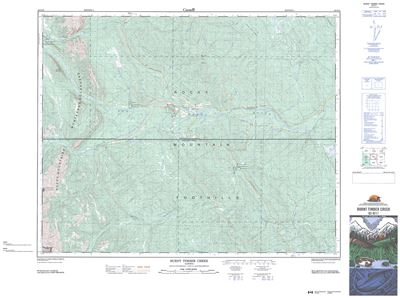 082O11 - BURNT TIMBER CREEK - Topographic Map. Shows highway 40. Part of the Ya Ha Tinda area. As the most detailed country-wide map series, the 1:50,000 paper topographic series also known as topo or topographical is ideal for any purpose that requires g