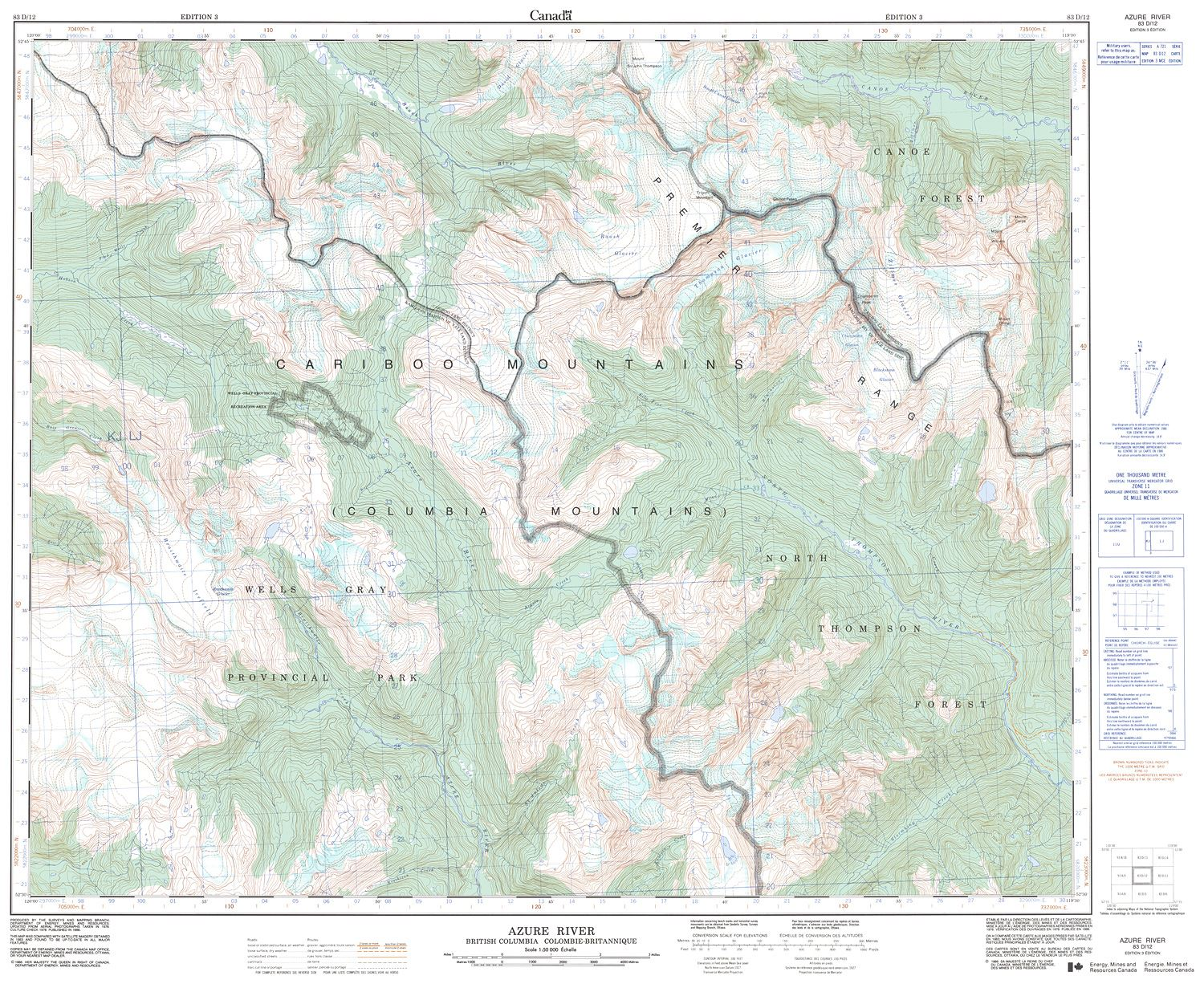 083d12 Azure River Topographic Map
