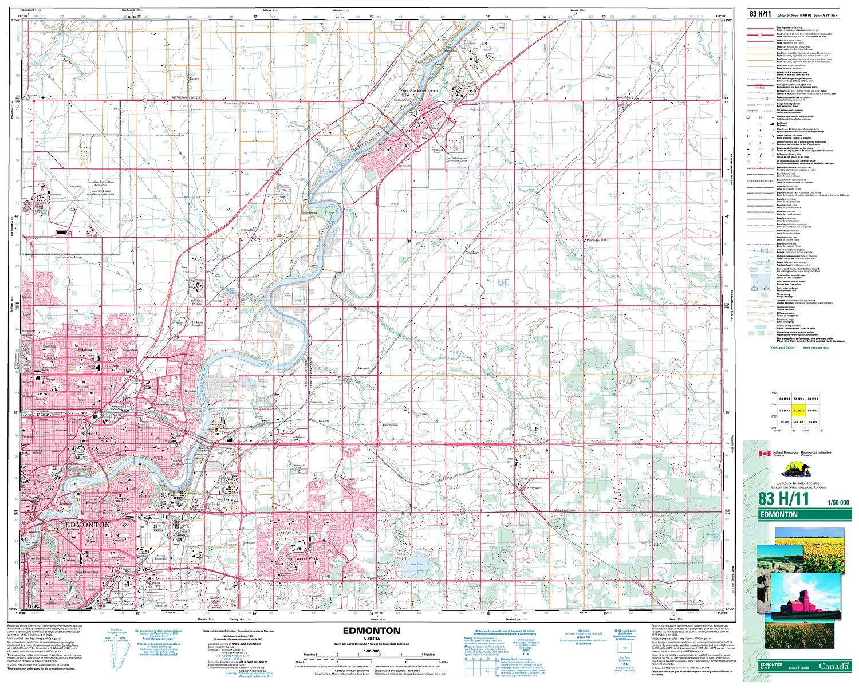 083h11 Edmonton Topographic Map