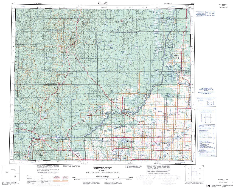 083J - WHITECOURT - Topographic Map