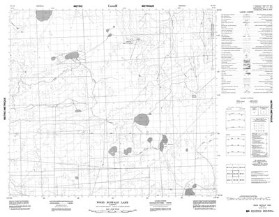 084A06 - WOOD BUFFALO LAKE - Topographic Map