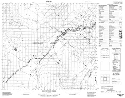 084A16 - BIRCHWOOD CREEK - Topographic Map