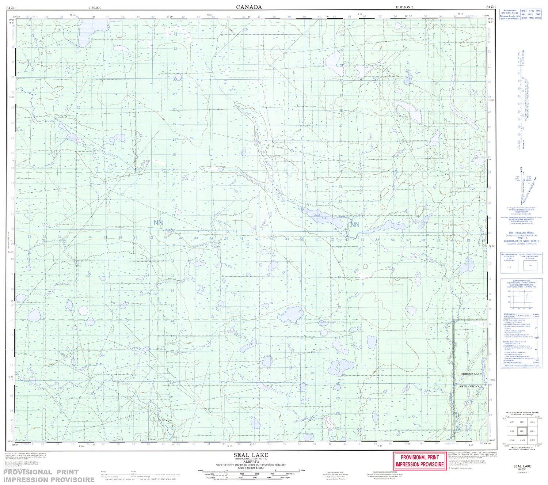 seal lake alberta map 084c01 Seal Lake Topographic Map seal lake alberta map