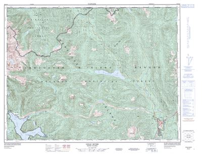 092E16 - GOLD RIVER - Topographic Map