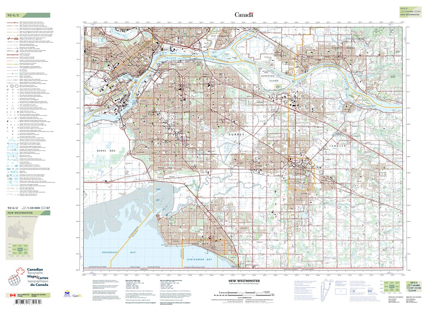 092g02 New Westminster Topographic Map