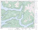 092L16 - KINGCOME INLET - Topographic Map