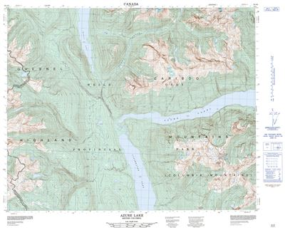 093A08 - AZURE LAKE - Topographic Map