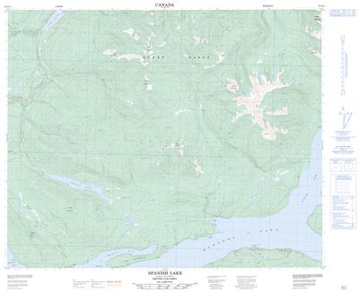 093A11 - SPANISH LAKE - Topographic Map