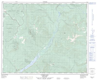 093A14 - CARIBOO LAKE - Topographic Map