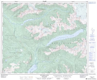 093A15 - MITCHELL LAKE - Topographic Map