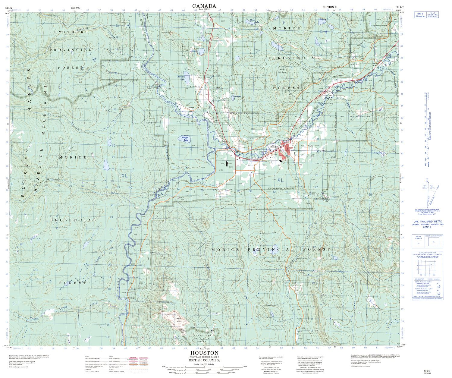 093l07 Houston Topographic Map