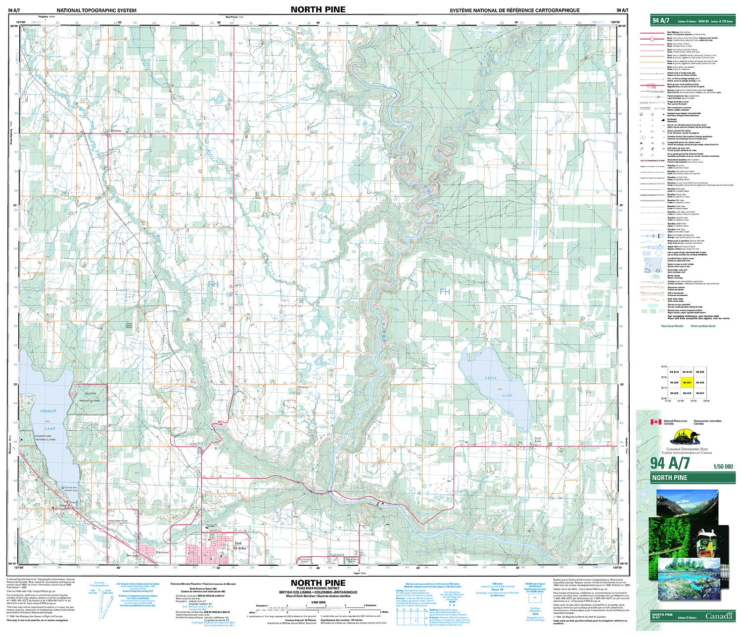 094a07 North Pine Topographic Map