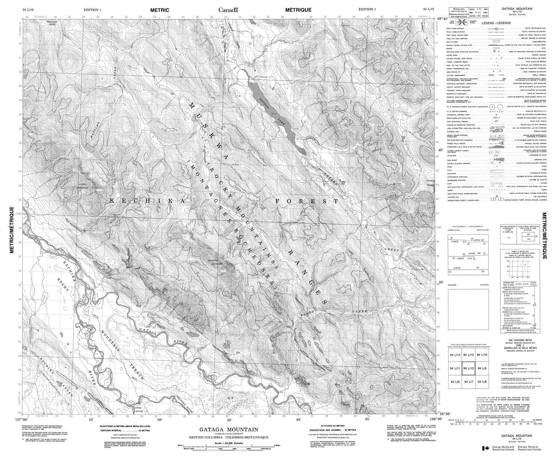 Topographic Map Mountain.094l10 Gataga Mountain Topographic Map