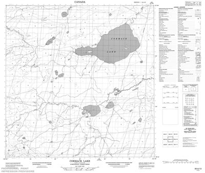 095A13 - CORMACK LAKE - Topographic Map