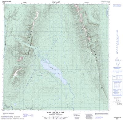 095B05 - FISHERMAN LAKE - Topographic Map