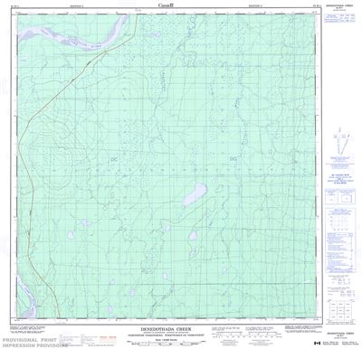 095B11 - DENEDOTHADA CREEK - Topographic Map