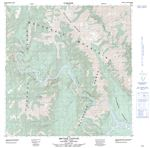 095F07 - SECOND CANYON - Topographic Map