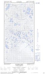 095H11E - MANNERS CREEK - Topographic Map