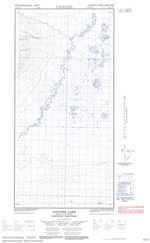 095H12W - ANTOINE LAKE - Topographic Map