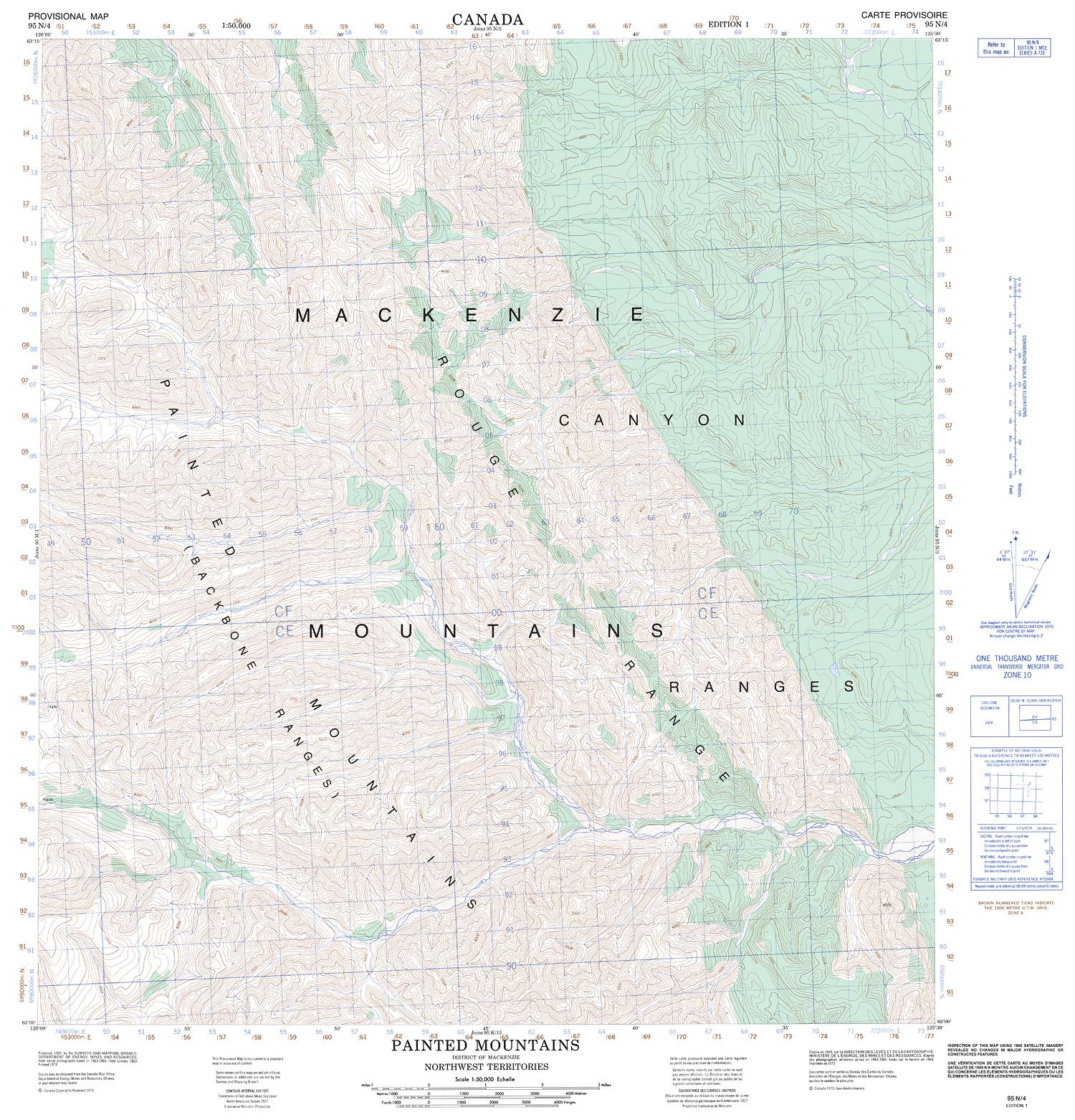 Topographic Map Mountains.095n04 Painted Mountains Topographic Map