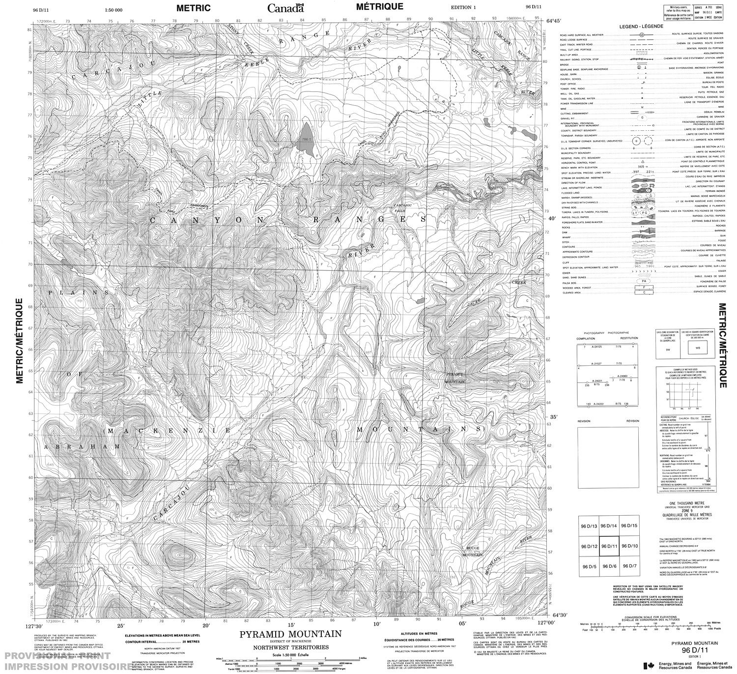 Topographic Map Mountain.096d11 Pyramid Mountain Topographic Map