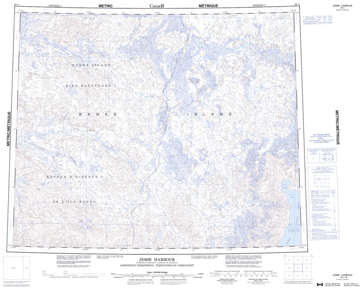 098A - JESSE HARBOUR - Topographic Map
