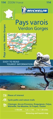 France - Pays Varois - Gorges du Verdon Travel & Road Map. The map covers the areas and cities of Marseille, Toulon and St Raphael. In addition to Michelins clear and accurate mapping, this Zoom map highlights all the leisure activities available, such a