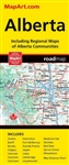 Alberta Travel & Road Map - Folded. Includes regional maps of Airdrie, Banff, Brooks, Calgary, Camrose, Canmore, Cochrane, Edmonton, Fort McMurray, Grande Prairie, Jasper, Leduc, Lethbridge, Lloydminster, Medicine Hat, Okotoks, Red Deer, Spruce Grove and