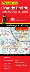 Grande Prairie Alberta road map. A detailed road map of NW Alberta showing township and range roads. Includes a road index, place name, index map and city maps of Grande Prairie, Peace River, Slave Lake and Whitecourt. Feature provincial parks, camp groun