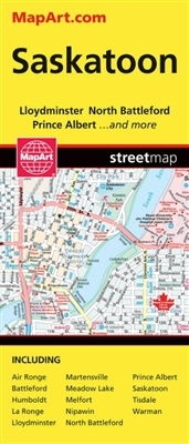 Saskatoon Travel Road map. Includes regional map of Saskatchewan Detailed city maps of Battleford, Humboldt, La Ronge, Lloydminster, Martensville, Meadow Lake, Melfort, Nipawan, North Battleford, Prince Albert, Tisdale, Warman and Yorkton. Folded maps hav