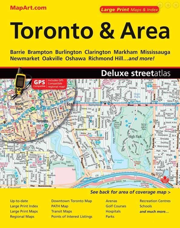 Toronto and Area Street Atlas Map Art