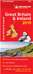 Great Britain & Ireland Travel & Road Map. Updated annually, MICHELIN National Map Great Britain & Ireland will give you an overall picture of your journey thanks to its clear and accurate mapping scale 1:1,000,000. Our map will help you easily plan your