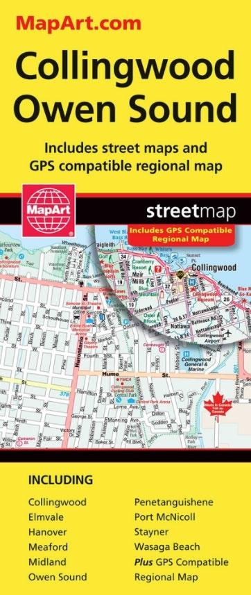 Owen Sound Map Art Map