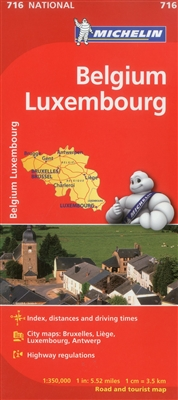 MICHELIN Belgium and Luxembourg travel and road map will give you an overall picture of your journey thanks to its clear and accurate mapping. Visit places such as Brussels, Luxembourg, Liege Antwerp, Gent an more. This will help you easily plan your safe