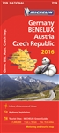 Germany Benelux Austria & the Czech Republic Travel & Road Map. Updated annually, MICHELIN National Map Germany, Benelux, Austria, Czech Rep (map 719) will give you an overall picture of your journey thanks to its clear and accurate mapping scale 1:1,000,
