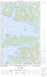 103F07E - RENNELL SOUND - Topographic Map