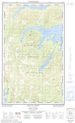 103F10E - AWUN LAKE - Topographic Map